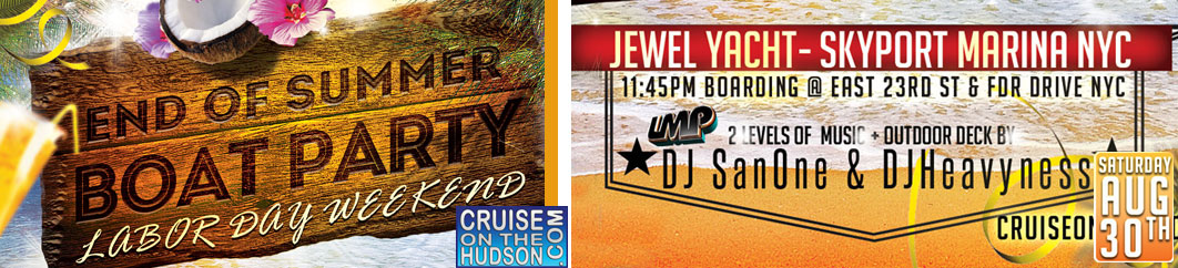 End of Summer Party Midnight Cruise NYC Jewel Yacht boarding at Skyport Marina NYC