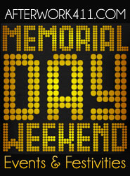 Memorial Day Weekend New York NYC Events After Work Banner