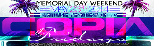 Memorial Day Weekend After Work friday at Copia NYC Midtown East