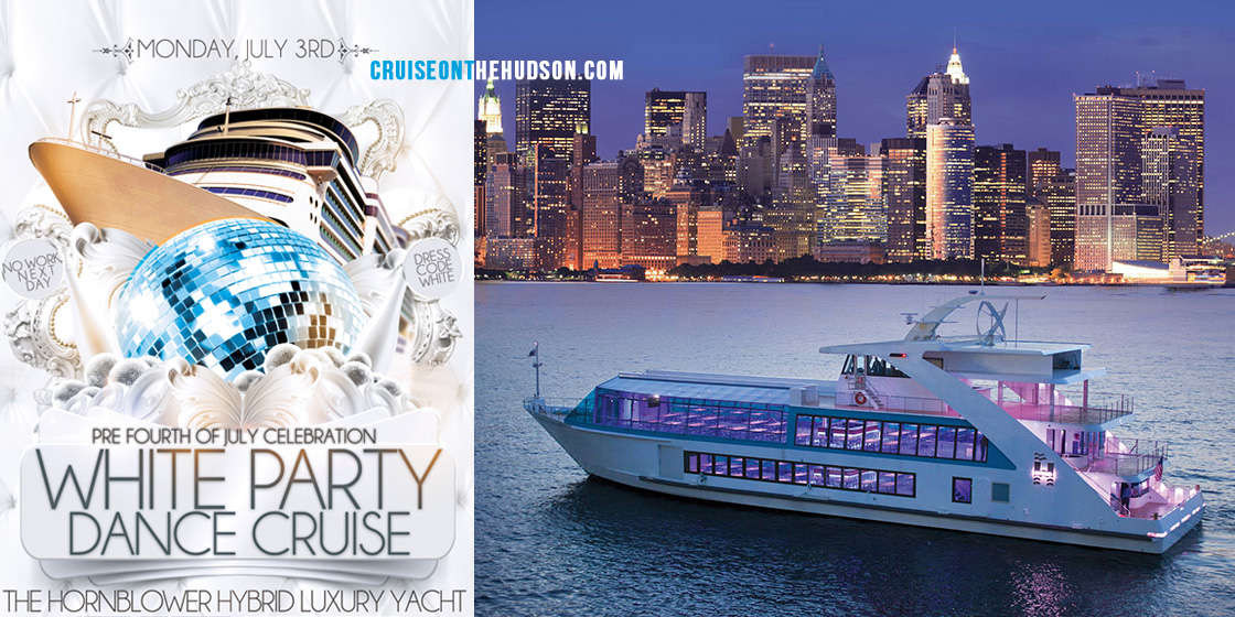 Cruise On The Hudson - Summer Yacht Party NYC Hornblower Hybrid Yacht Dance Cruise On The Water boarding from Pier 40 NYC
