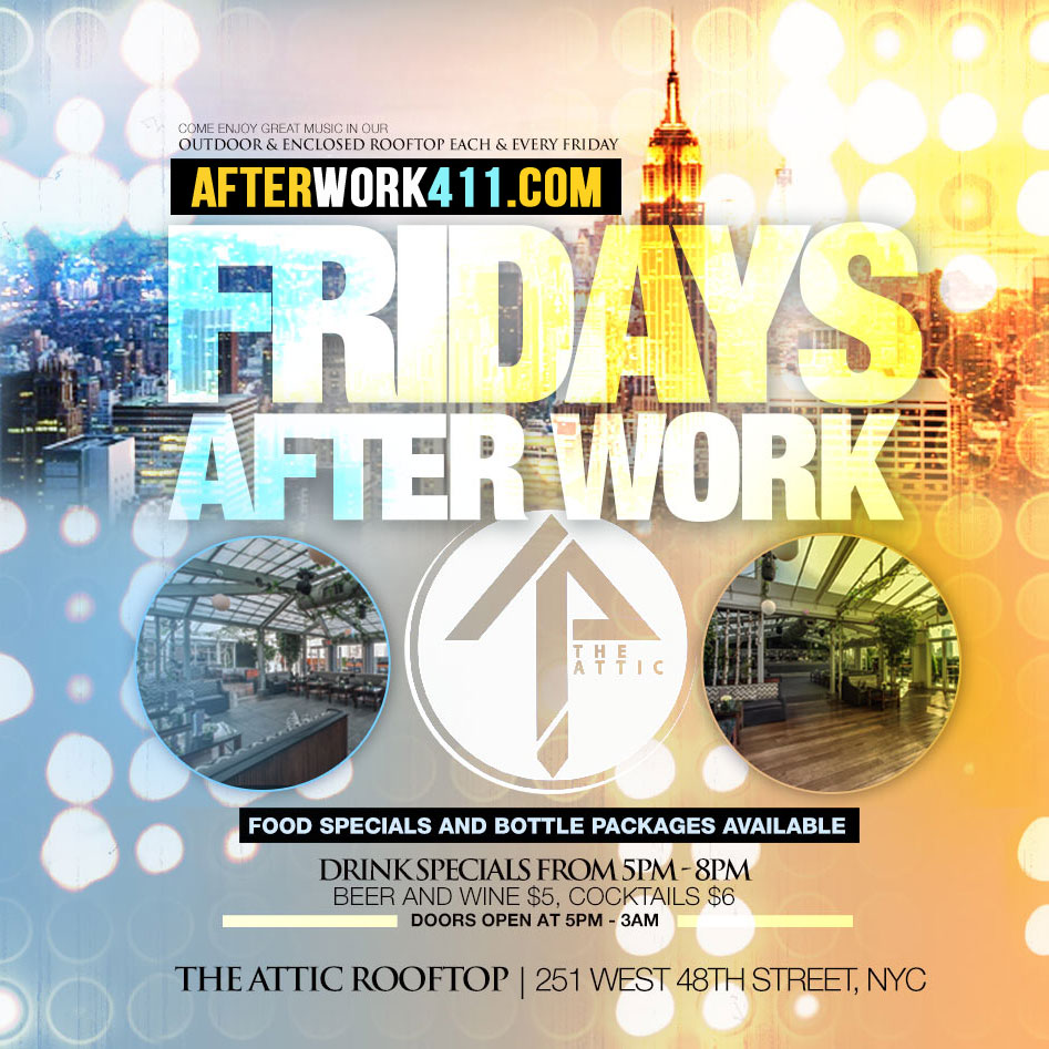 The Attic NYC Lounge NYC Nightlife After Work Friday NYC Happy Hour Attic Rooftop Lounge