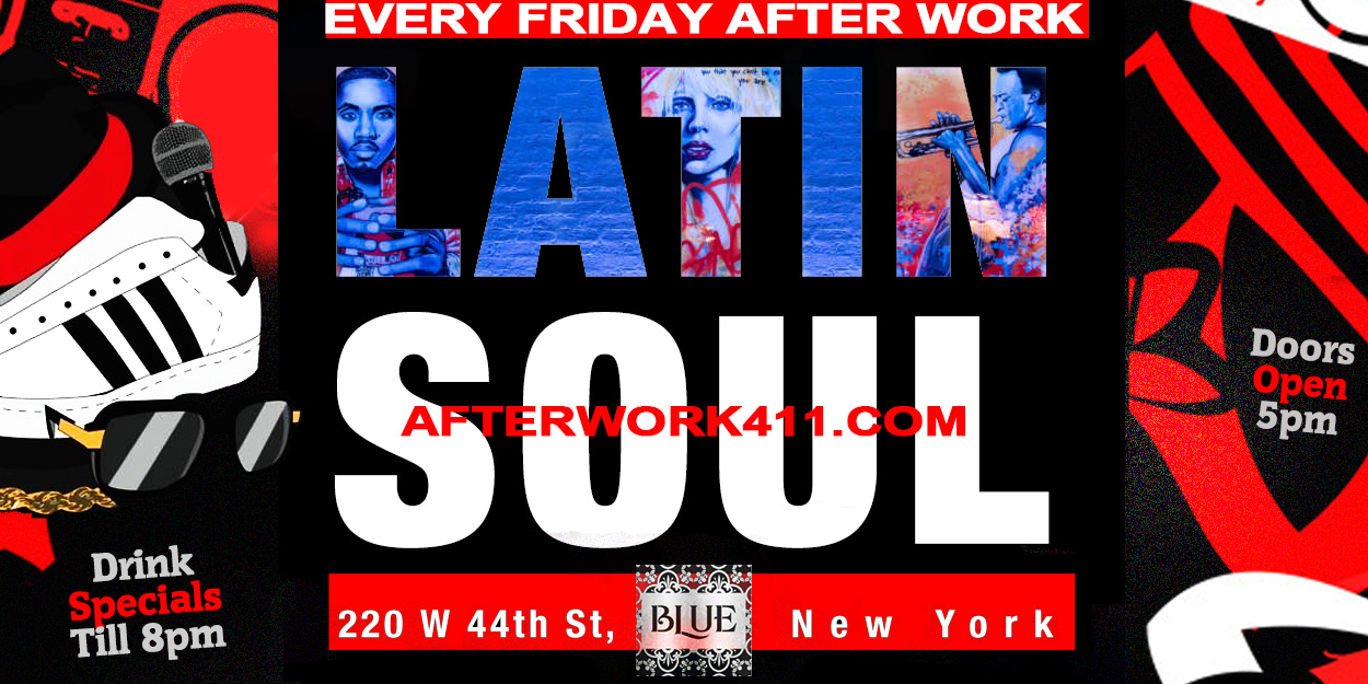 Blue Midtown NYC Lounge After Work Friday Blue NYC Times Sqaure Blue Lounge NYC