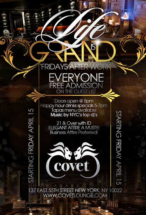 Friday After Work Covet Lounge Nyc