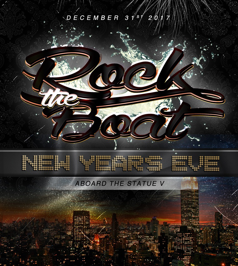 Rock The Boat New Years Eve 2018 NYC Boat Party Fireworks Cruise NYC