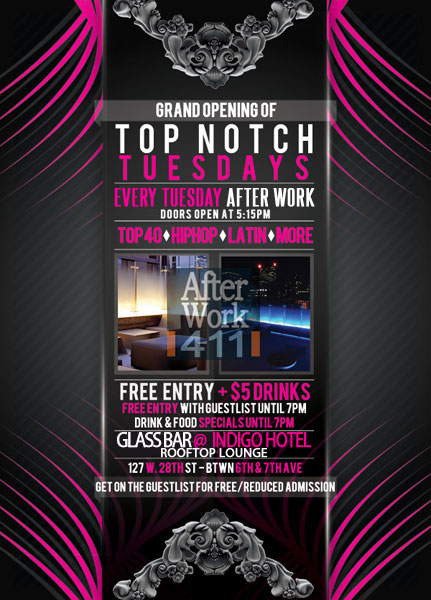 After work Tuesday at The Glass Bar NYC