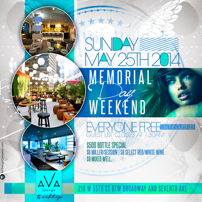 Memorial Day weekend 2014 Ava Lounge Rooftop NYC