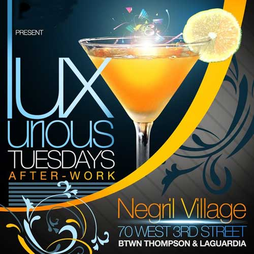 After work tuesday at Negril Village NYC Flyer
