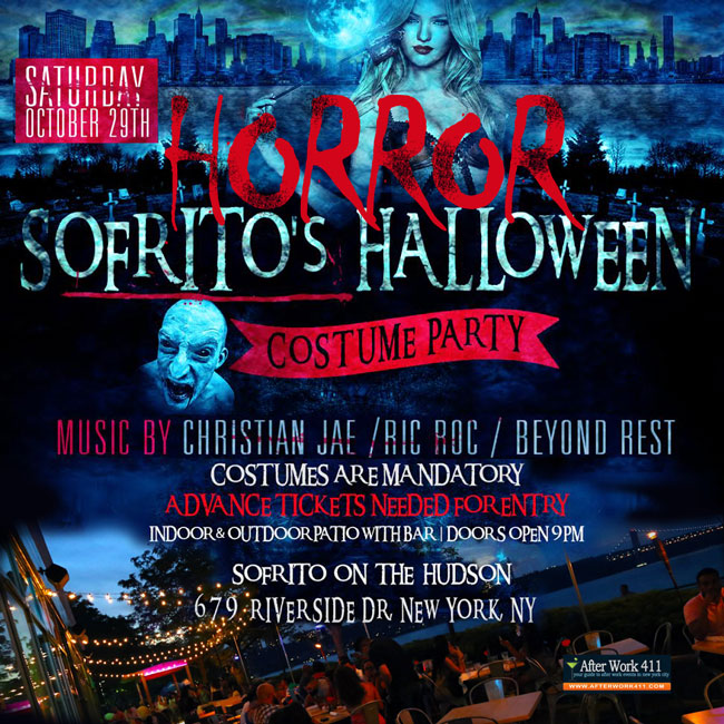 Horror Sofrito NYC Halloween Party at Sofrito On The Hudson - Uptown NYC