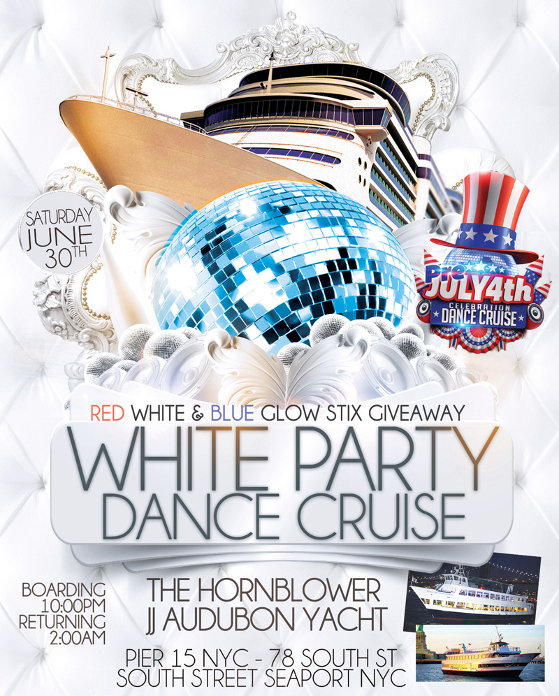 All White Fourth Of July Weekend Yacht Party Dance Cruise