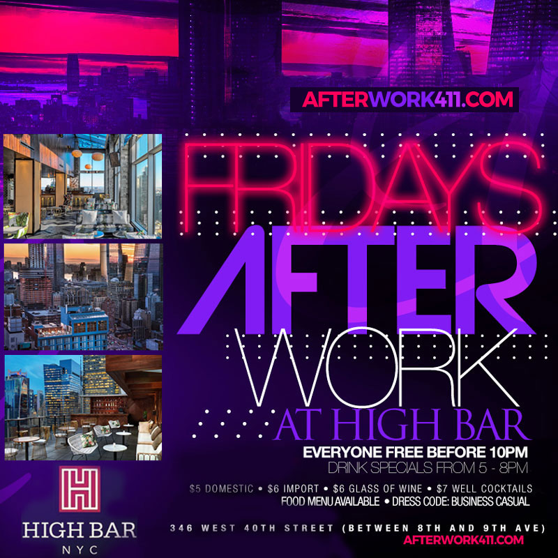 high bar nyc lounge after work friday nyc rooftop bar