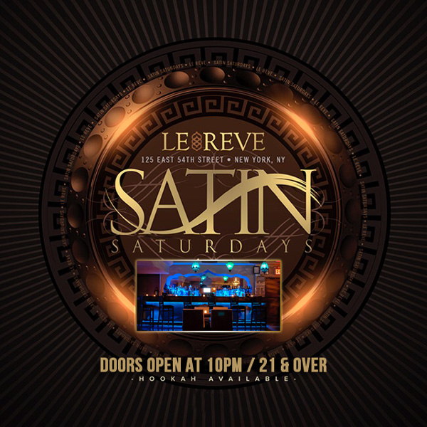 Le Reve Lounge Nyc Le Reve Nyc Hookah Bars Saturday Night Nyc